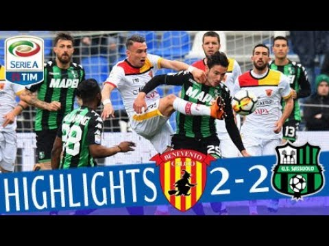 Sassuolo - Benevento 2-2 - Highlights - Giornata 32 - Serie A TIM 2017/18