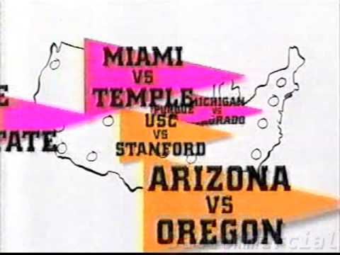 ESPN Gameplan Commercial (1996) College Football Cable Channel Whiteboard Map You