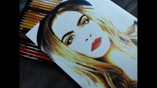 How to draw Cara Delevingne (2)