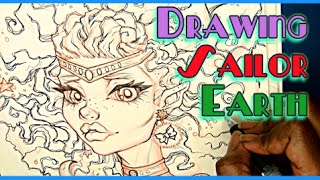 Art (HeirofGlee): Sailor Earth inking