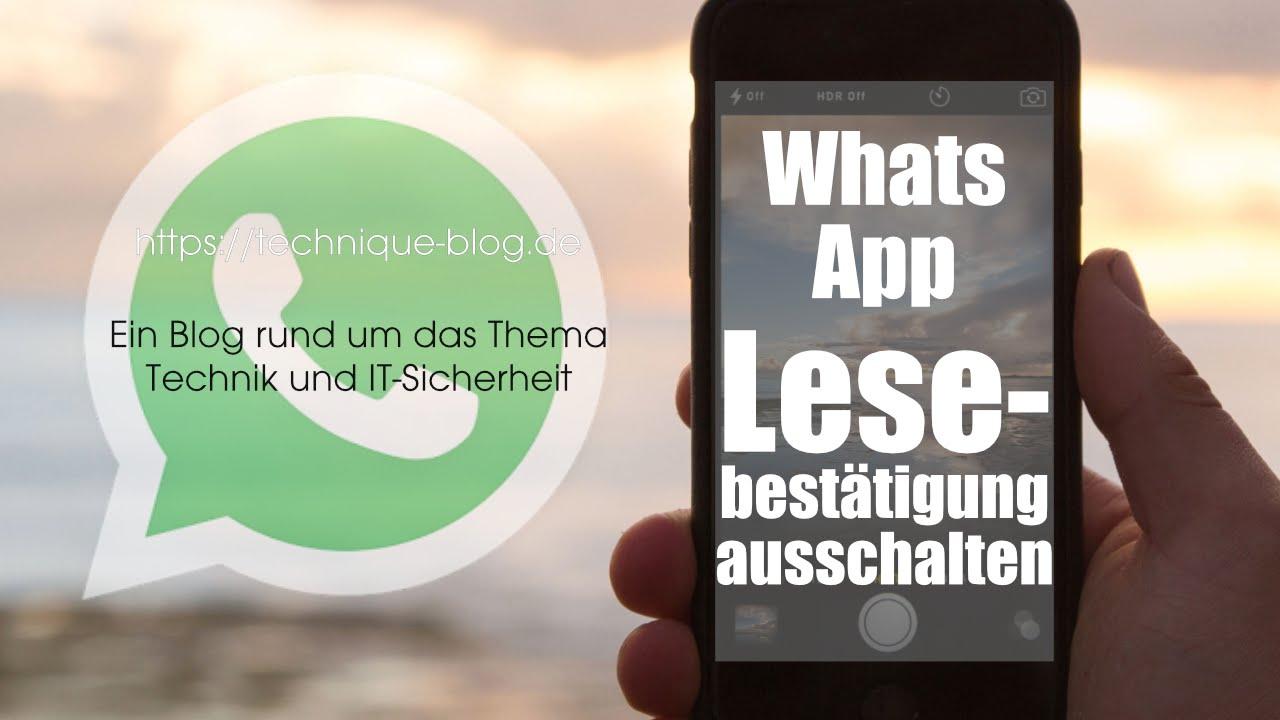 Whatsapp Lesebestätigung