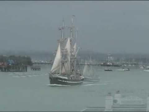 "Three Masted Barque ""Belem"" Leaving Portsmouth (UK)"