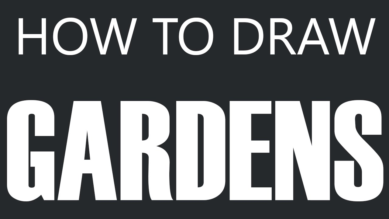 Vegetable garden kids drawing - How To Draw A Garden Home Garden Drawing Vegetable Gardens Youtube