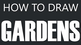How To Draw A Garden - Home Garden Drawing (Vegetable Gardens)