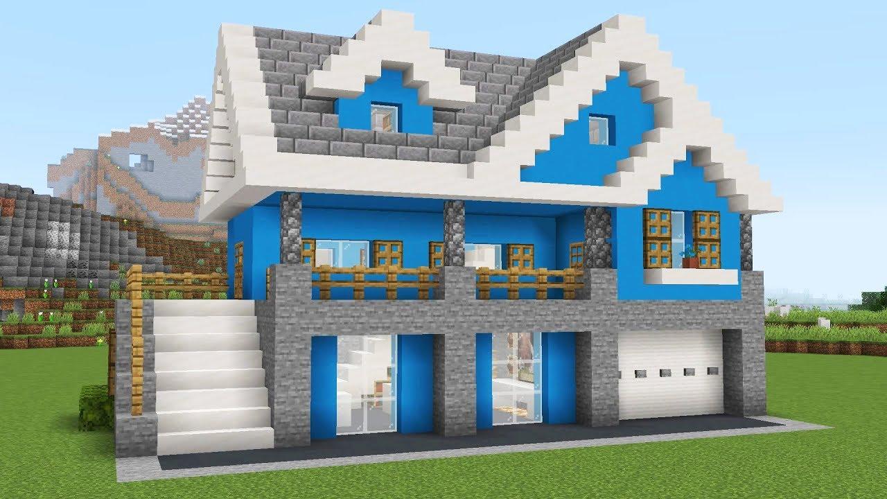 Большой красивый дом в майнкрафте
