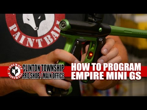 How to Program the Empire Mini GS Paintball Gun | Lone Wolf Paintball Michigan