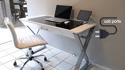 Modern Office Desk - White