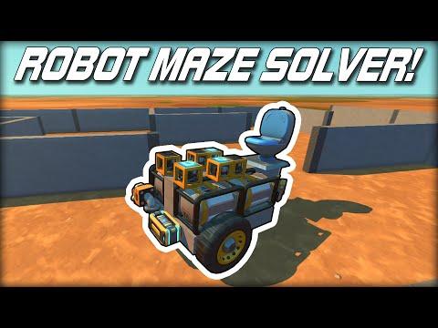 I Built the World's Dumbest Maze Solving Robot! (Scrap Mechanic Gameplay)