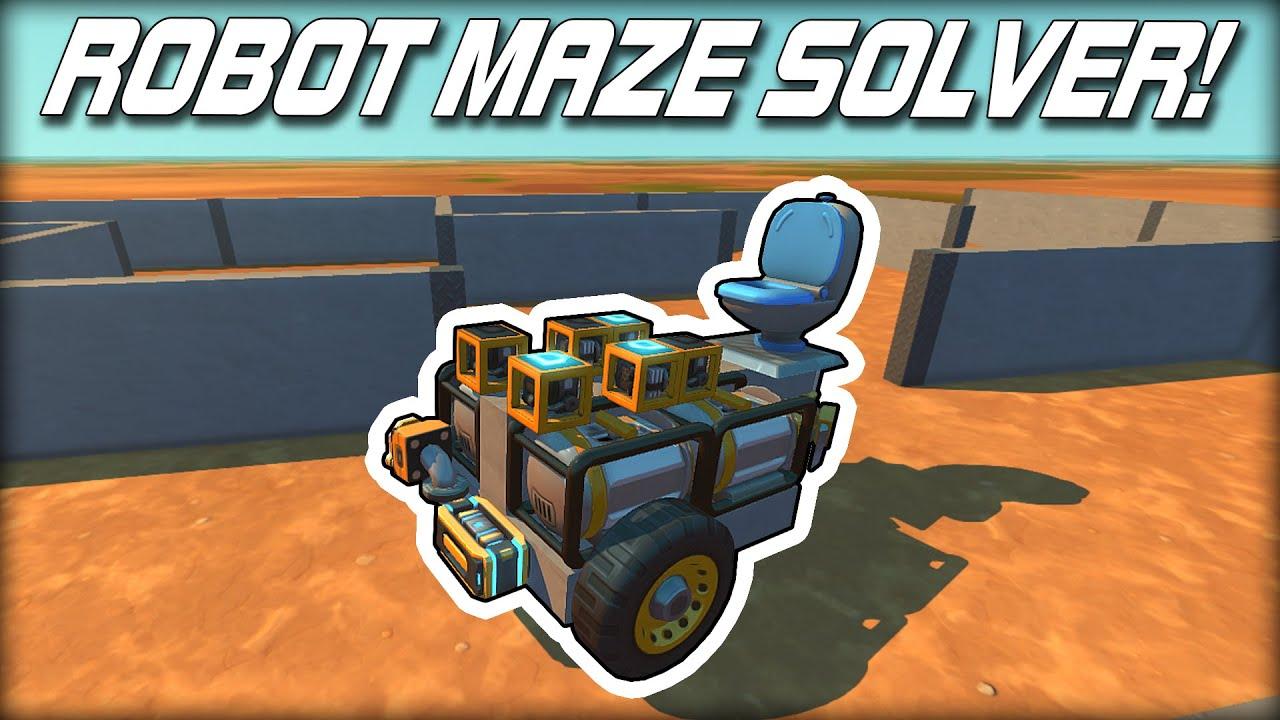Download I Built the World's Dumbest Maze Solving Robot! (Scrap Mechanic Gameplay)