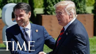 President Trump Meets With Italian Prime Minister Giuseppe Conte For Joint Conference | TIME