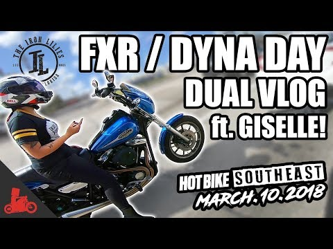 DUAL VLOG w/ Giselle of The Iron Lillies - FXR / Dyna Day Info!