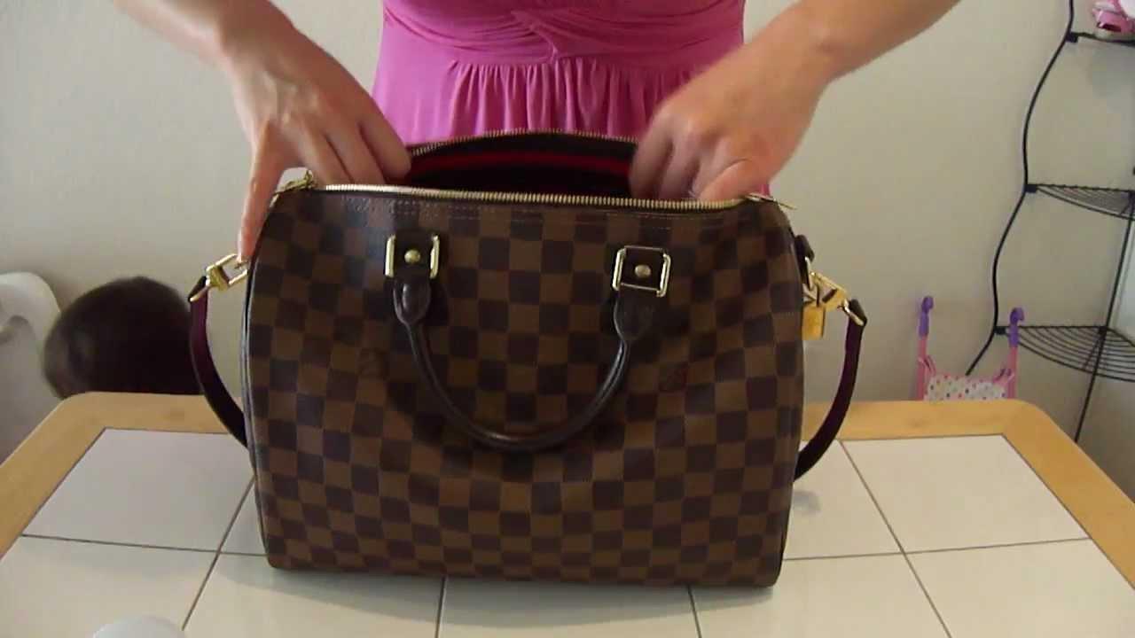 fcdcecbf1703 purse organizer for Louis Vuitton speedy 30 (cameleon xl structured) -  YouTube