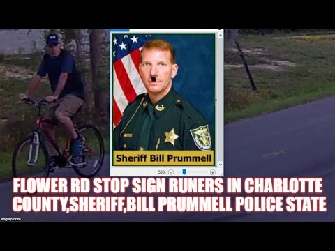 flower rd stop sign runers in charlotte county,sheriff,bill prummell