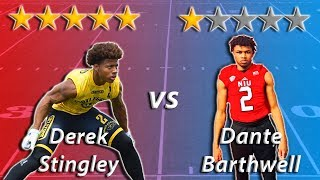 5 Star Cornerback vs 1 Star Cornerback | Sharpe Sports