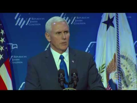 Pence Talks Tough on Mideast, Iran