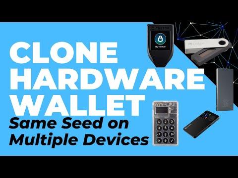 Cloning Hardware Wallets. Same Seed on Multiple Devices (Trezor, Ledger, Keepkey, Coldcard, SafePal)