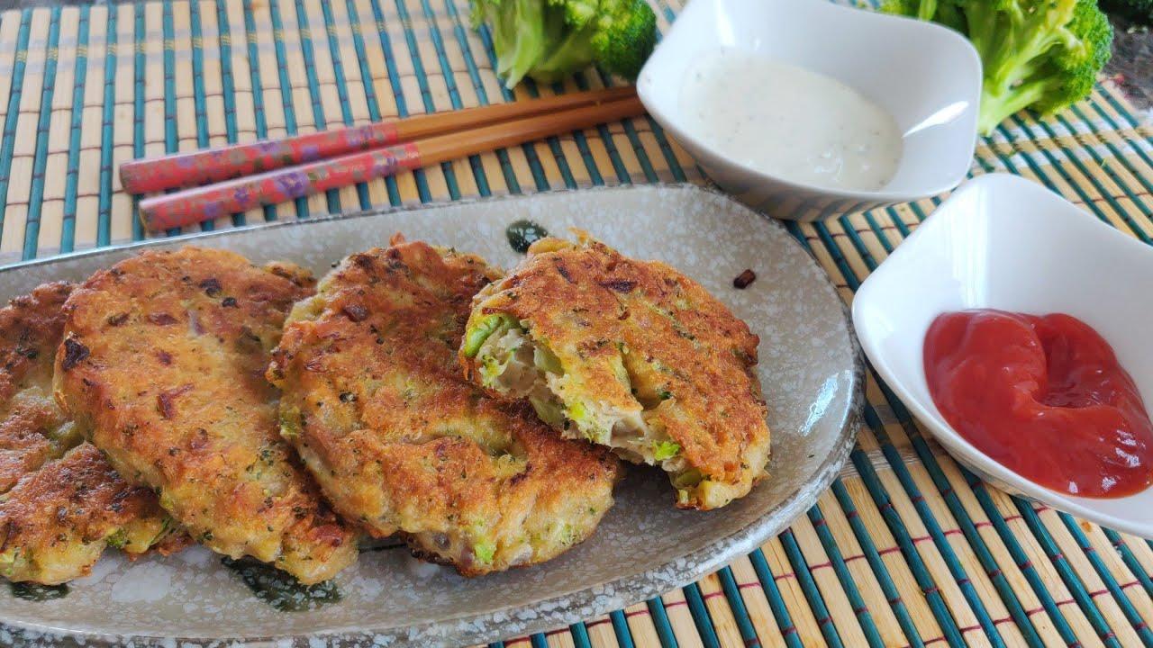 西兰花吞拿鱼早餐饼 可烤可煎 Broccoli Tuna fritters for breakfast