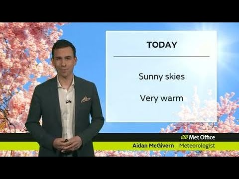 Thursday afternoon forecast 19/04/18