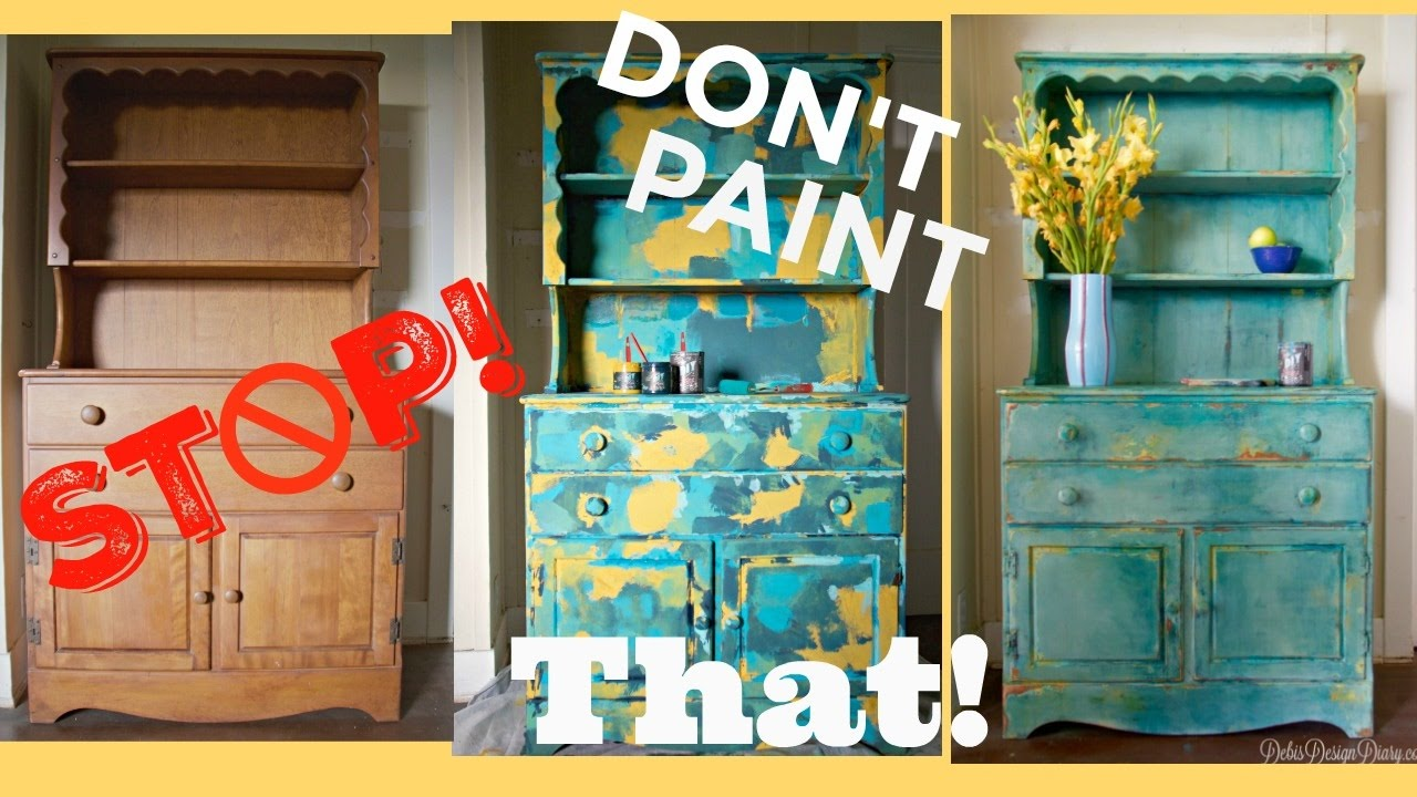 Four Color Paint Layering Blending A Story About Ruining Antique Furniture You