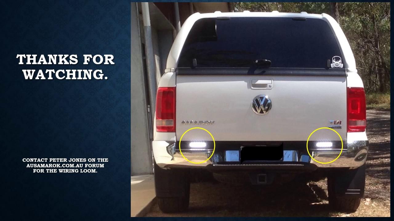 T 4 Wire Trailer Wiring Diagram Volkswagen Amarok Reverse Light Cure Youtube