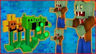 Майнкрафт напал на растение против зомби смотреть Minecraft Plants vs zombie От Фаника 10