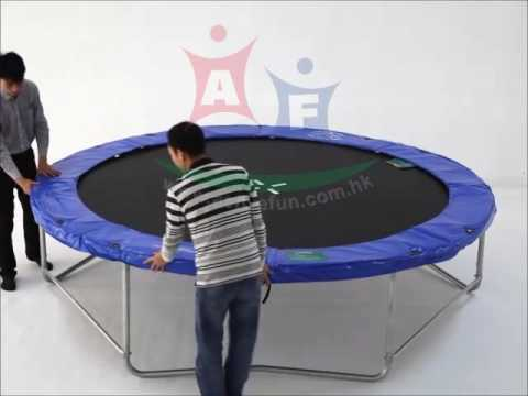 Active Fun Aft10 07 Trampoline Assembly Instructions Frame Pad Youtube
