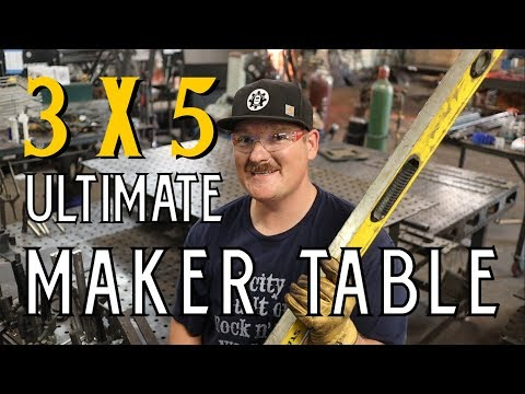 3' x 5' ULTIMATE MAKER TABLE KIT - Welding Fixture Table