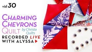 Sewing half chevrons - Vid 30 Charming Chevrons quilt #RelaxAndCraft Designer series