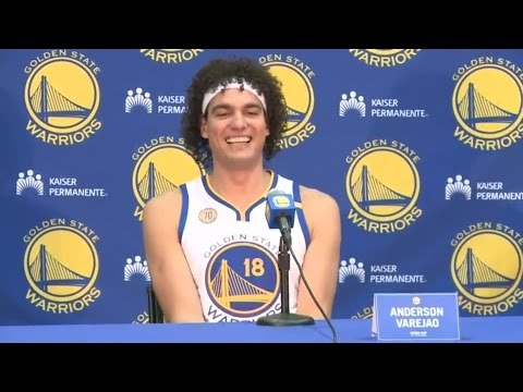 Warriors Media Day: Anderson Varejao On The Expectation For The Upcoming Season