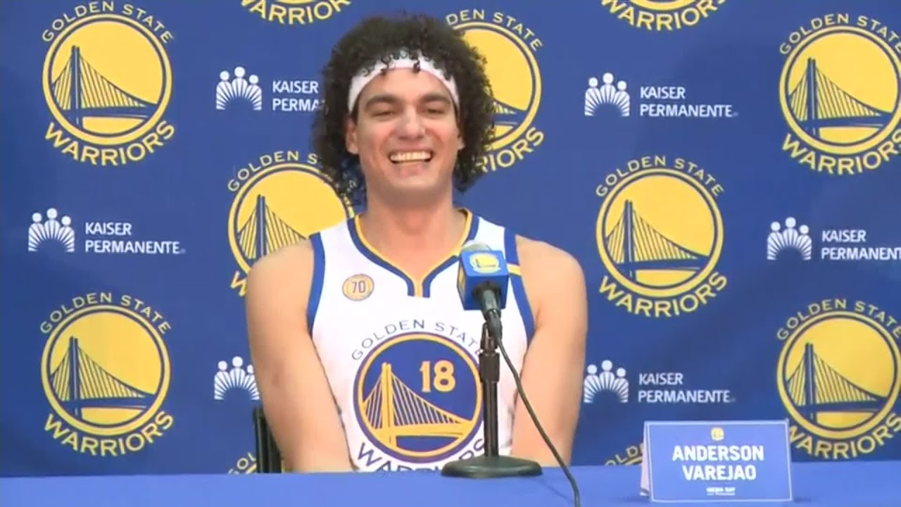 Warriors Media Day: Anderson Varejao On The Expectation For The Upcoming  Season - YouTube
