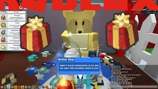 GIVING PRESENT TO MOTHER BEAR NPC!!! ROBLOX BEE SWARM SIMULATOR!!! #99