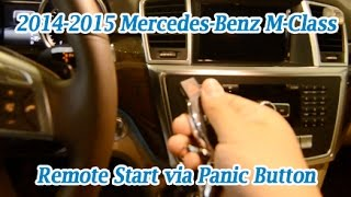 Mercedes-Benz 2014 2015 M-Class Remote Start Panic Button