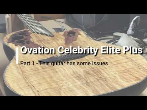 Ovation CE44P Spalted Maple Guitar with Issues - Part 1