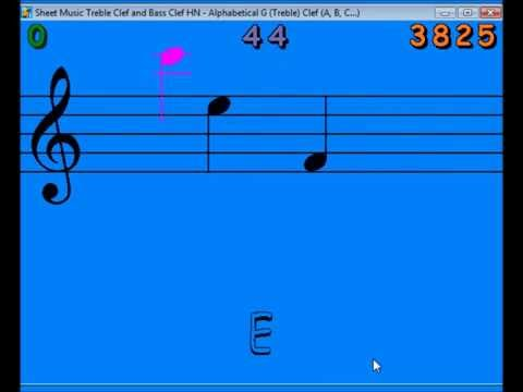 Learn to read music notes with a game: expert crazy game!