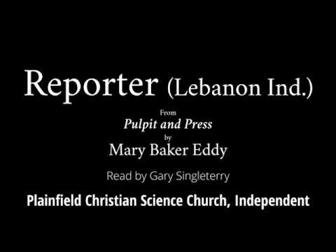 Reporter Lebanon Ind, From Pulpit And Press, By Mary Baker Eddy