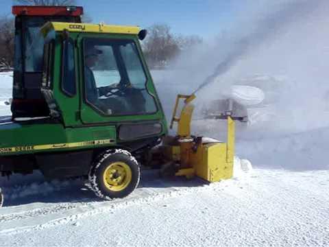 F912 John Deere Blowing Snow Youtube