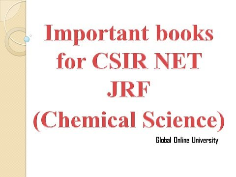 Best Books for CSIR/UGC NET Exam 2017, Lecturship Chemical science