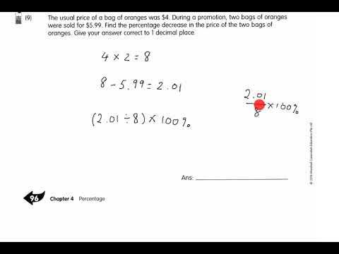 P6 Mathematics - Lesson on Tue, 27032018 1100am (Workbook Maths 6A - Chapter 4 Percentage)