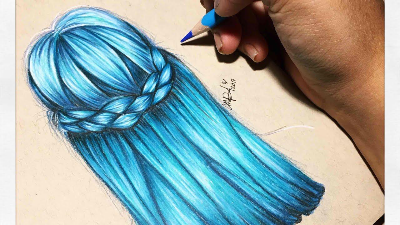 Super Facil Cabello Liso Azul Tumblr Los Tutos Youtube