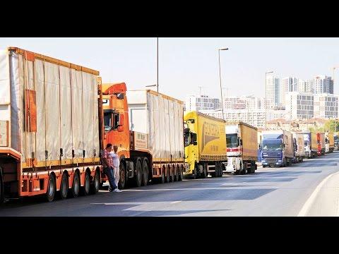Truck Trafic In A Big Hi Way - united arab emirates