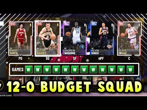 I went 12-0 with this budget squad in NBA 2K19 MyTEAM....