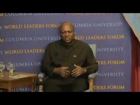 World Leaders Forum: John Mahama, President of the Republic of Ghana