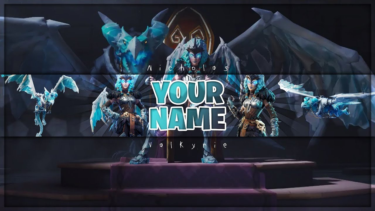 Fortnite Channel Art Valkyrie And Frostwing Photoshop Cs6 Youtube