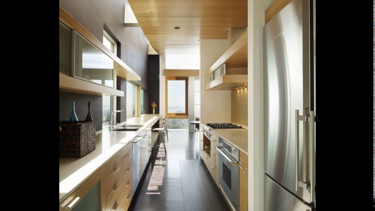 Small galley kitchen designs uk - YouTube
