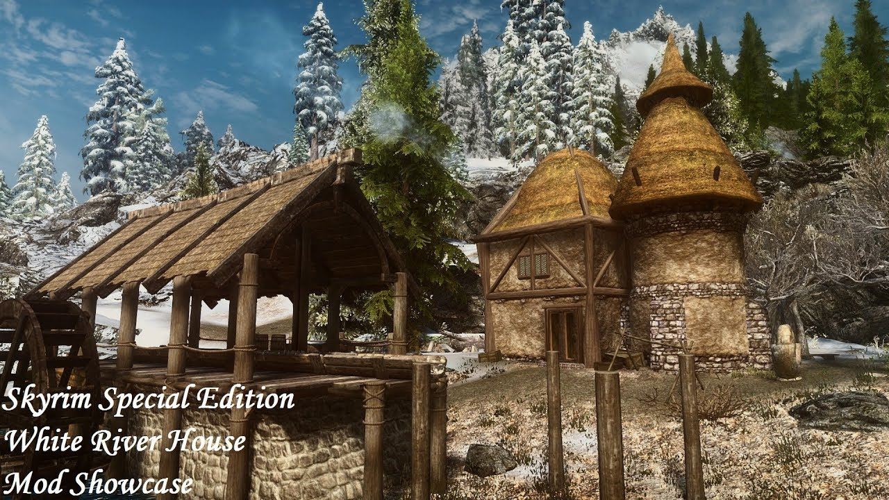 Skyrim SE - Player Home Mod: White River House SE (Morrowind Style)