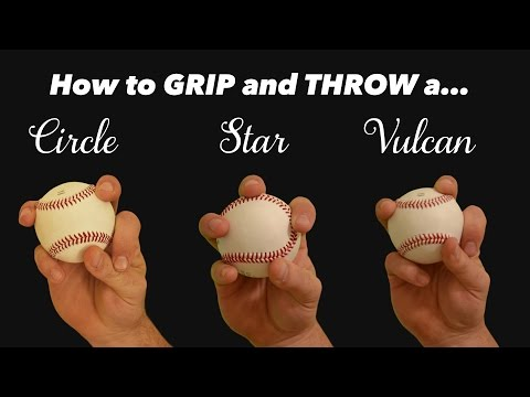 Baseball Pitching Grips [CHANGE UPS] The Circle, Star, And Vulcan