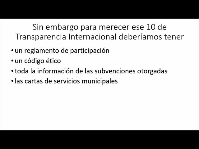¿10 en transparencia Ayuntamiento de Las Rozas?