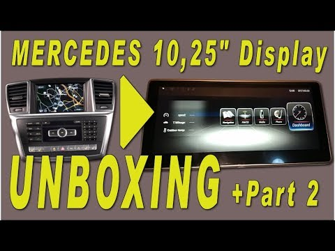 mercedes unboxing android part2 comand facelift 10 25 inch. Black Bedroom Furniture Sets. Home Design Ideas