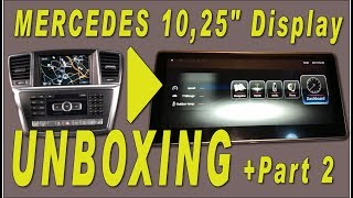 Mercedes UNBOXING Android PART2 comand facelift 10,25 inch widescreen dispaly W212 W204 W166 W205