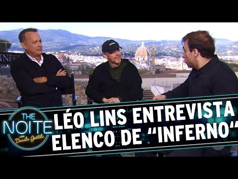"The Noite (12/10/16) - Léo Lins entrevista elenco do filme ""Inferno"""